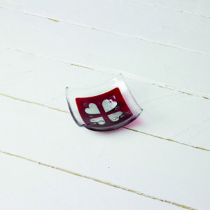 red hearts jewellery dish by jo downs