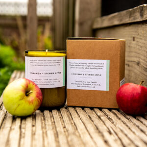 Cinnamon & Stewed Apple candle by half cut candles