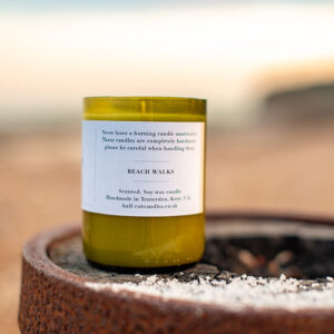 beach walks candle by half cut candles