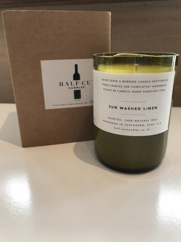 sun washed linen soy wax candle