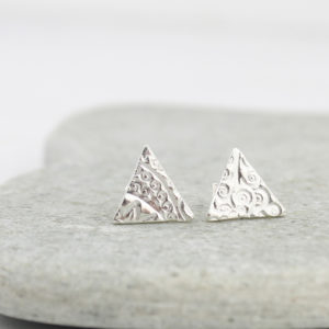 triangle earrings by lucy kemp jewellery