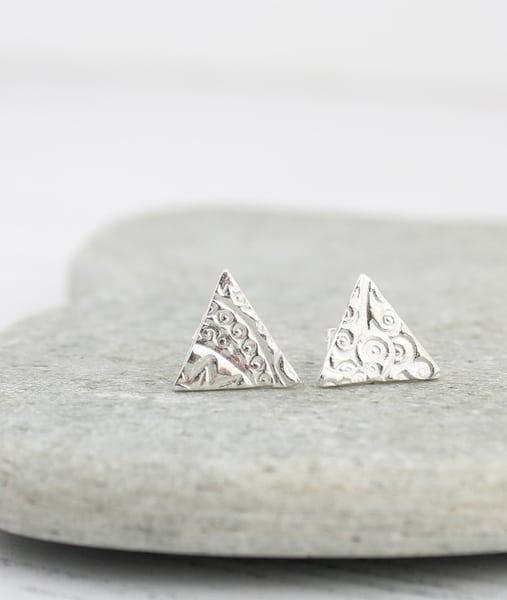 triangle earrings by lucy kemp jewellery