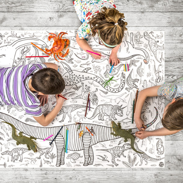 dinosaur colour in tablecloth by eggnogg