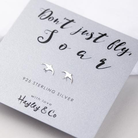 bird charm earrings by hayley & co