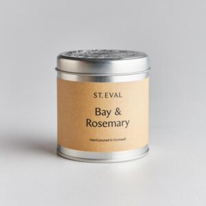 Bay & rosemary tin candle by st eval