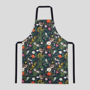 particle press wren and ladybird apron