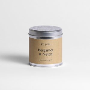 begamot and nettle candle tin