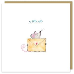 a little note card