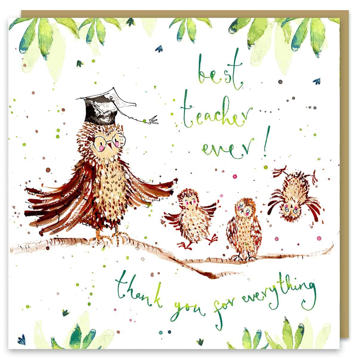 best teacher card by louise mulgrew