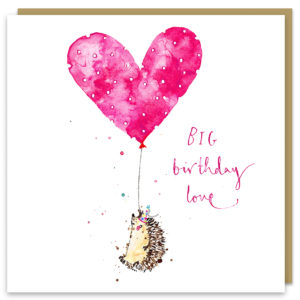 big birthday love card