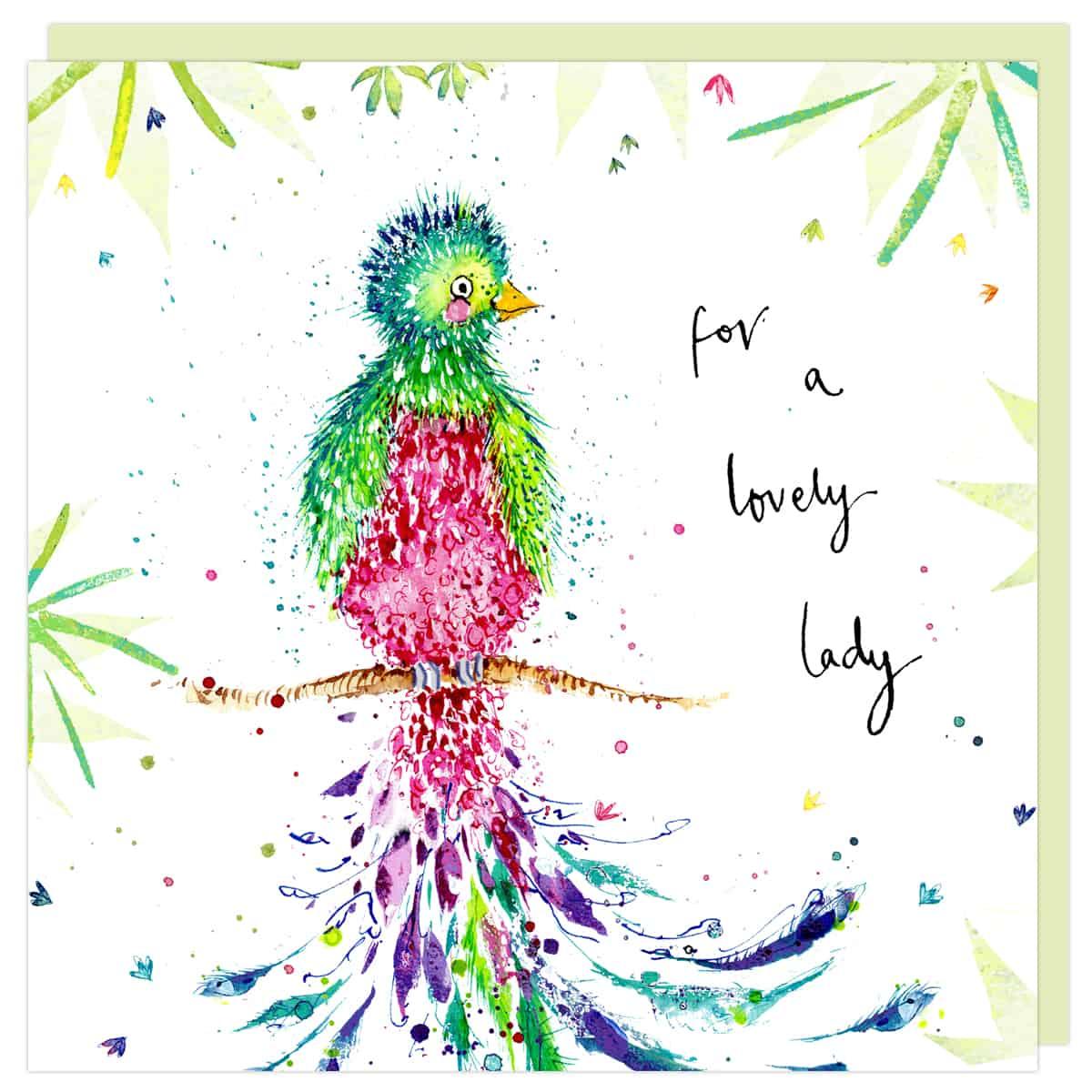lovely lady card