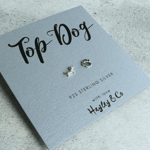 top dog earrings