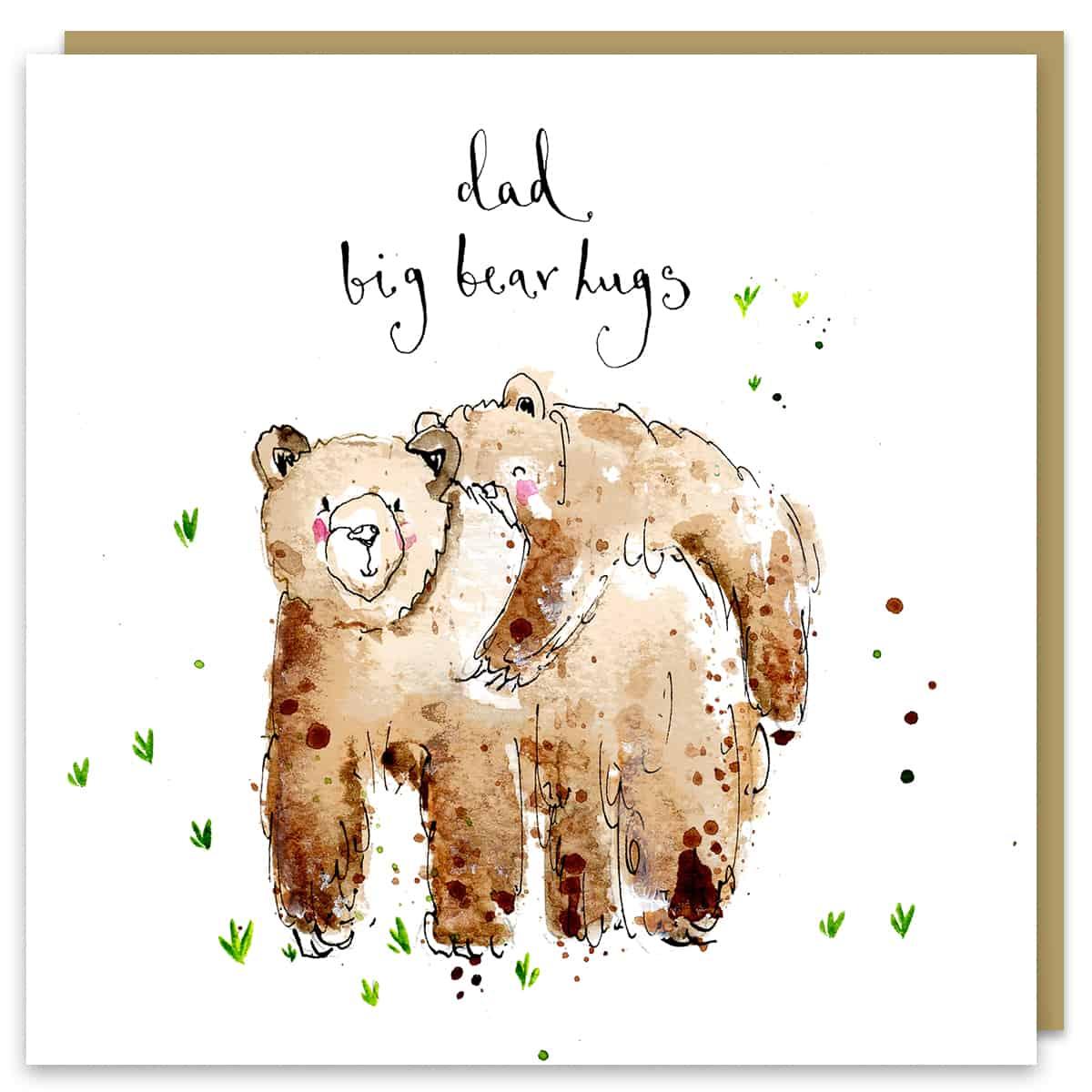 dad big bear hugs