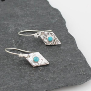 diamond turquoise earrings