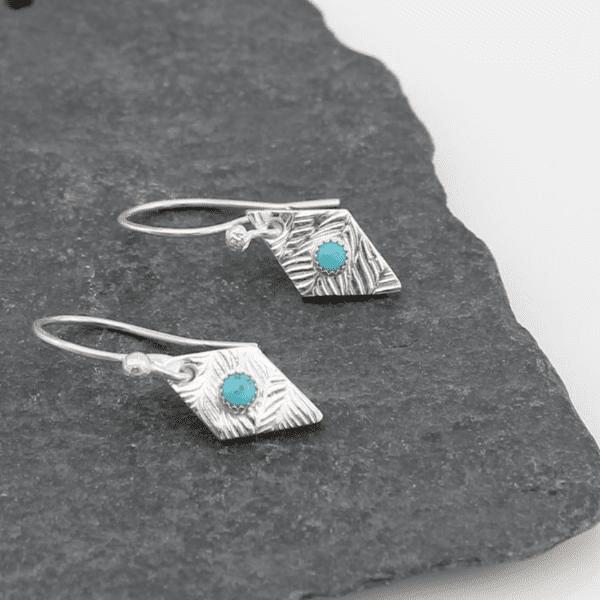 diamond turquoise earrings