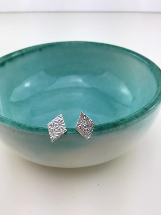 diamond lace studs