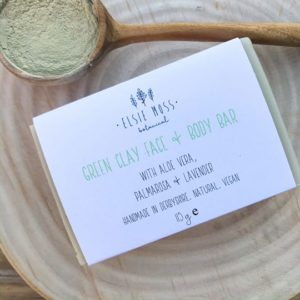 green clay face & body bar