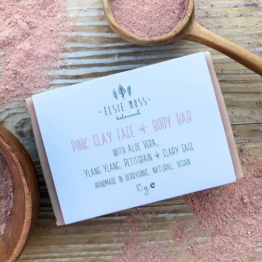 pink clay face and body bar