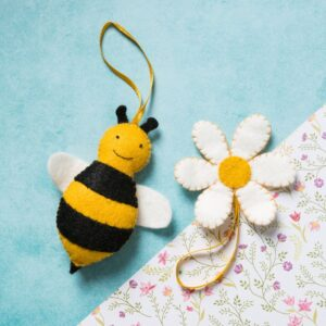 bee with flower felt kit by corinne lapierre