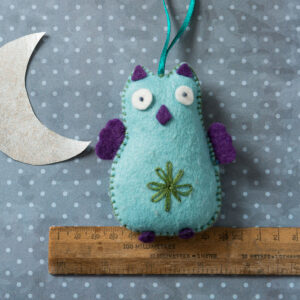 blue owl felt kit by corinne lapierre