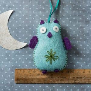 blue owl felt kit by corinne lapierre