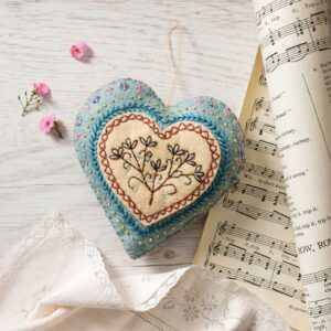 embroidery heart felt kit by corinne lapierre