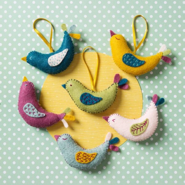 summer birds felt kit by corinne lapierre