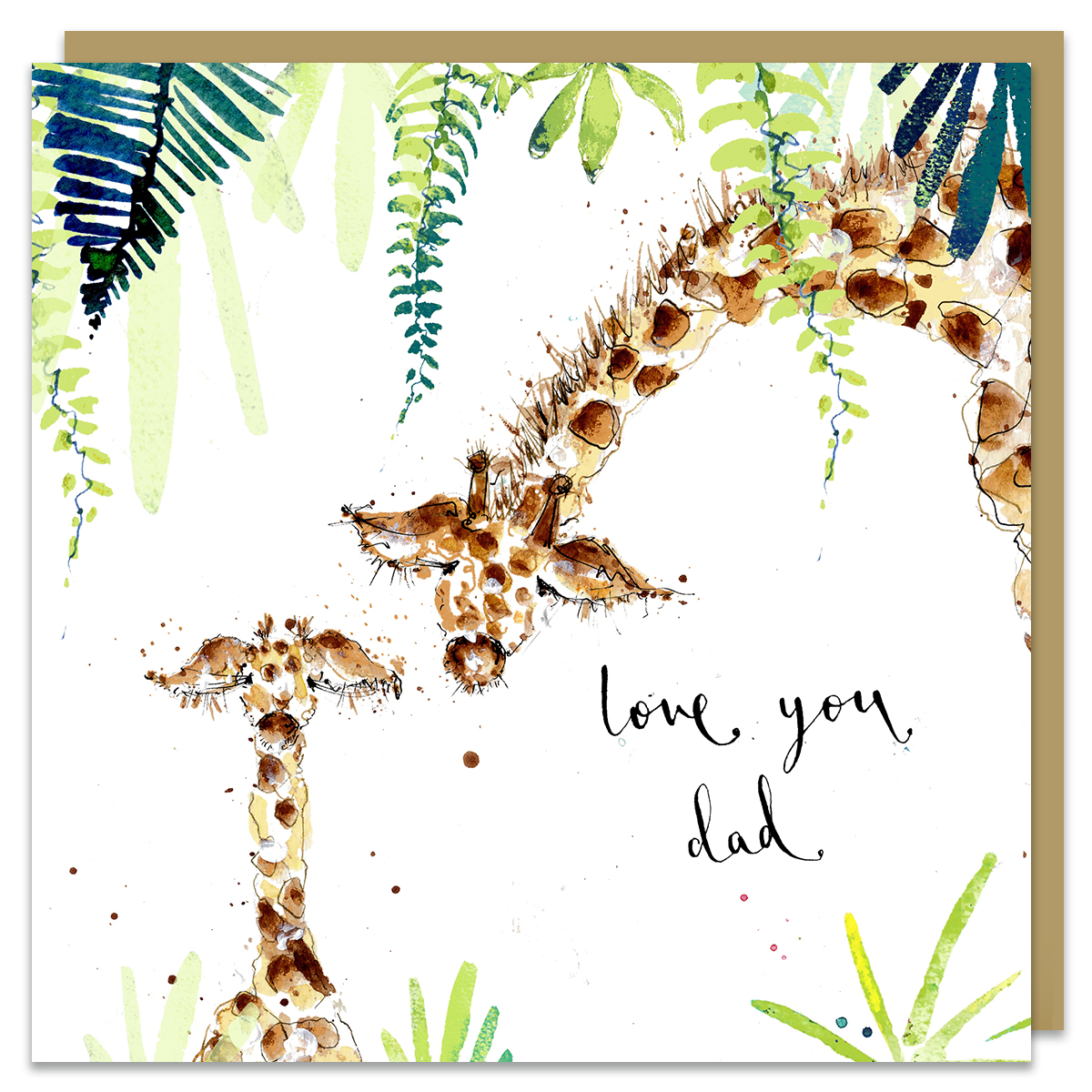 love you dad card by louise mulgrew