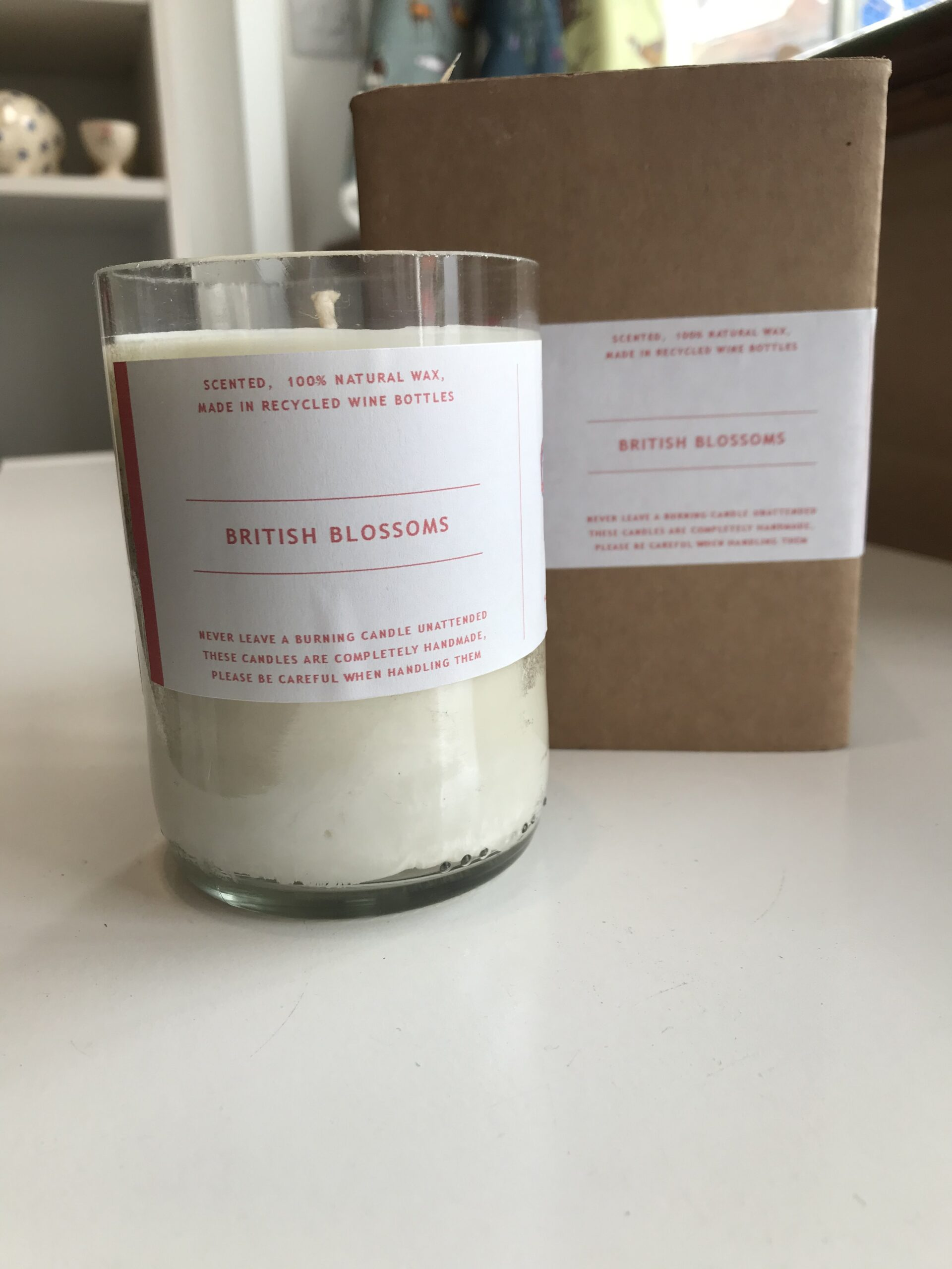british blossoms soy wax candle