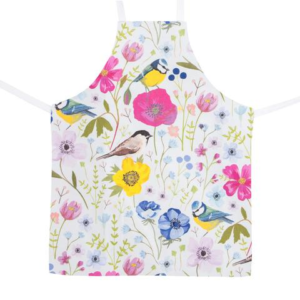 Particle Press Blue tit apron