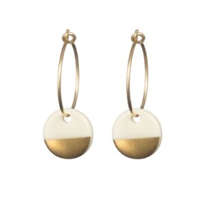 porcelain gold dipped earrings by one and eight jewellery