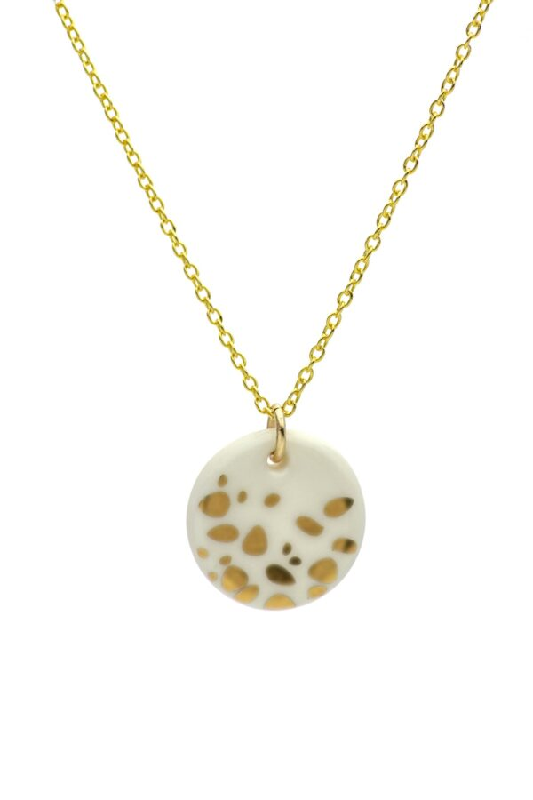 porcelain gold haze necklace by one and eight jewellery