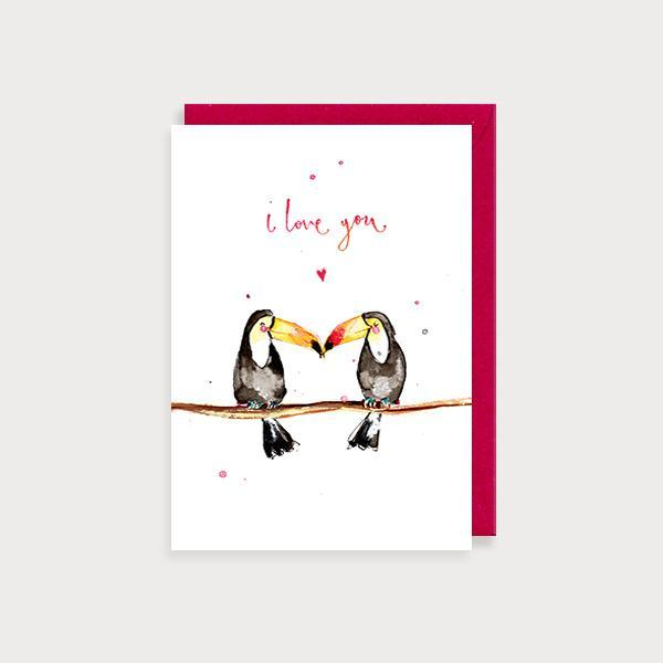 love you toucans card by louise mulgrew