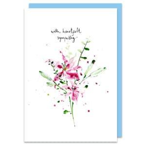 sympathy card by louise mulgrew
