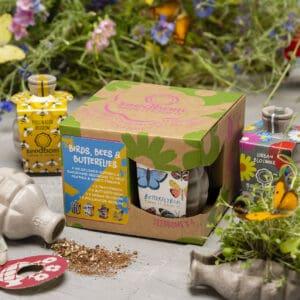 birds bees and butterflies seedbom gift box