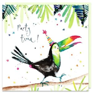 party time toucan card by louise mulgrew