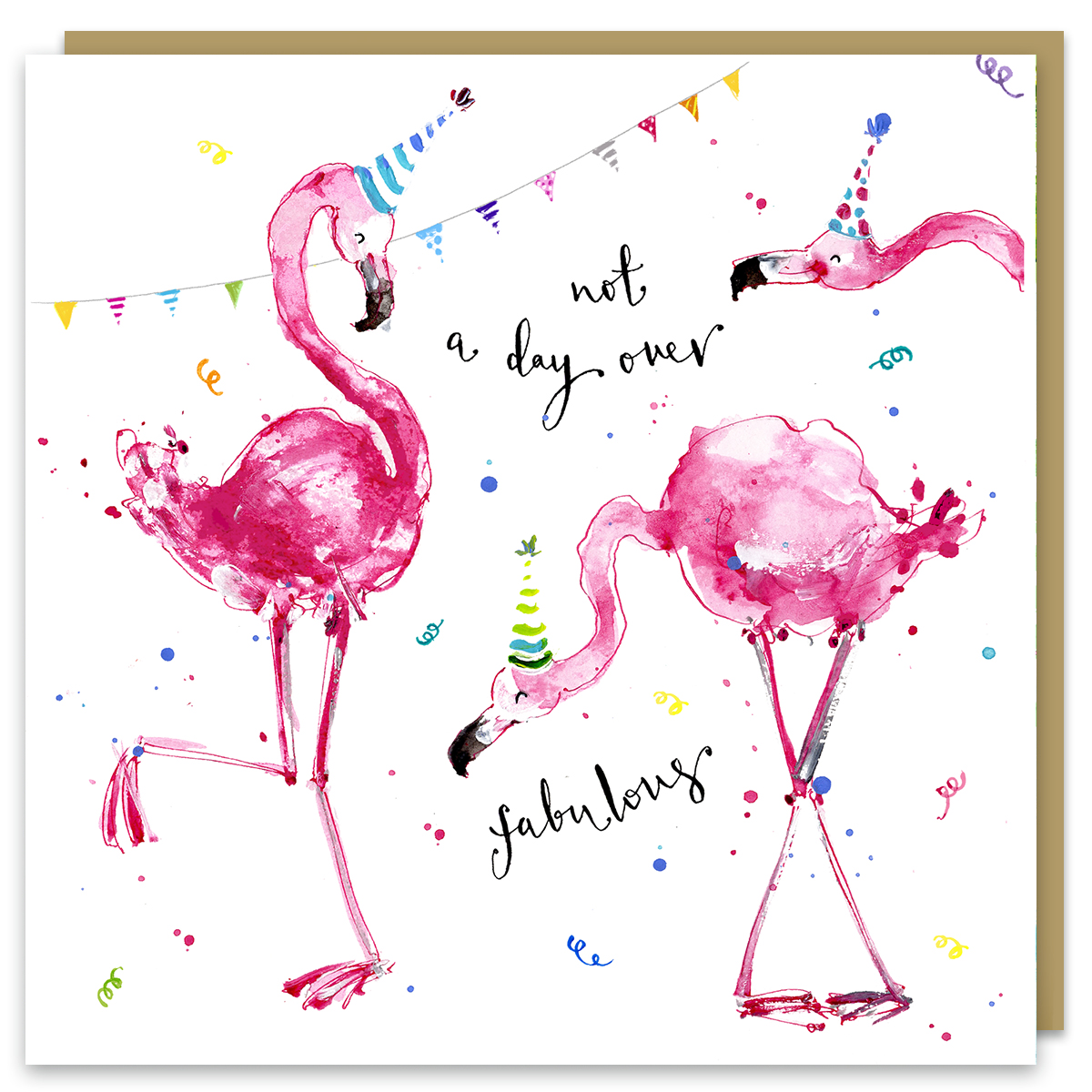 fabulous flamingos by louise mulgrew