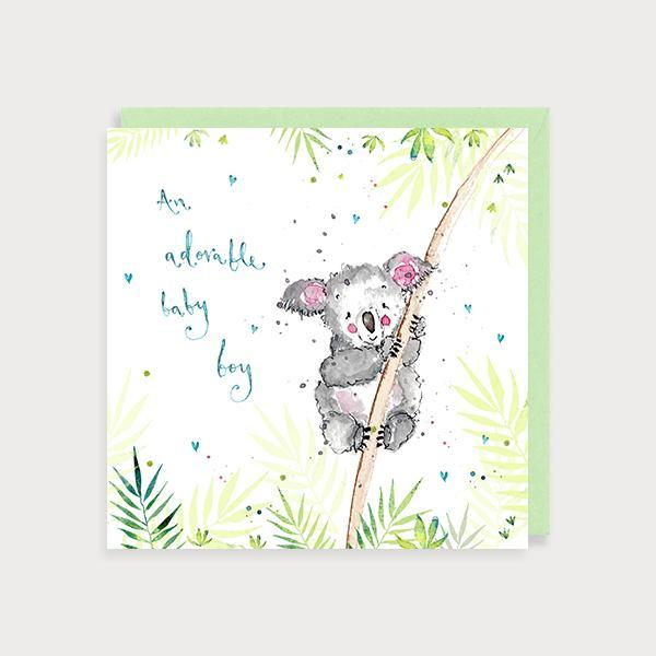 baby boy card by louise mulgrew