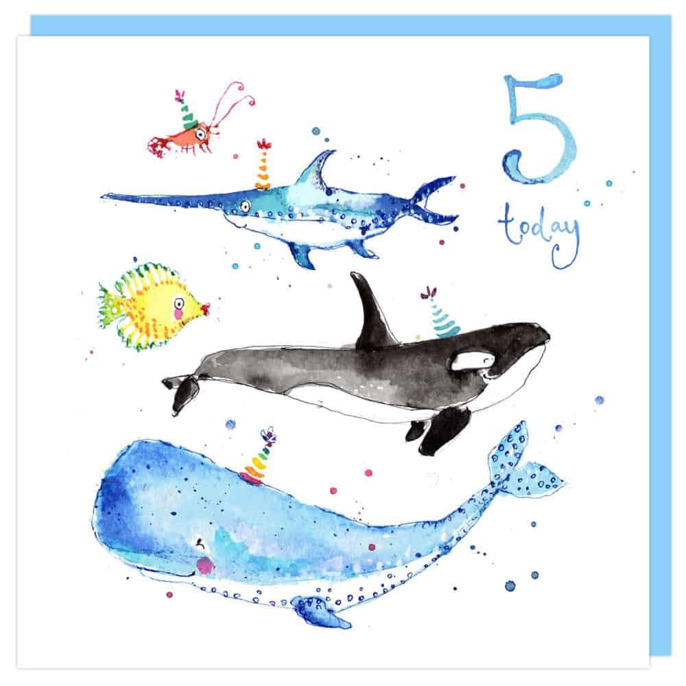 5th birthday card by louise Mulgrew