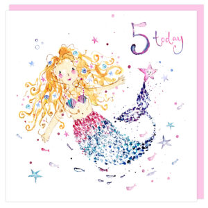 5th birthday card by louise mulgrew