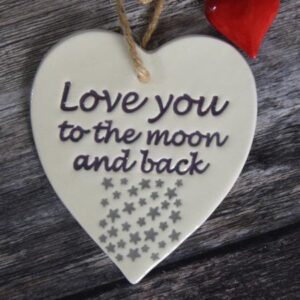 love you moon by broadlands pottery