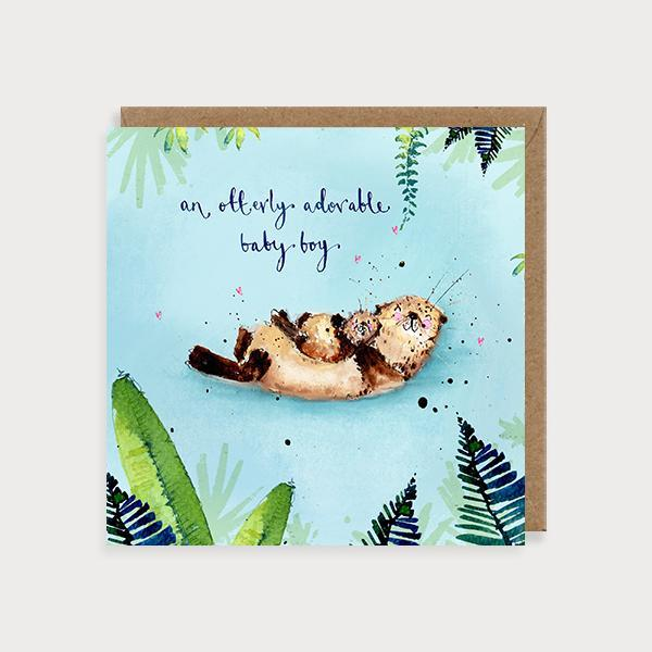 baby boy card by louise mulgrew