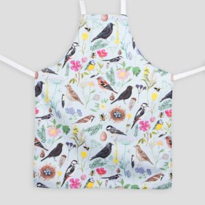 Cornish garden birds apron by particle press
