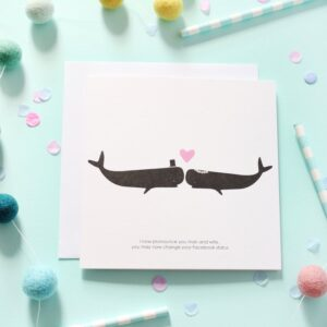 mr & mrs whale card