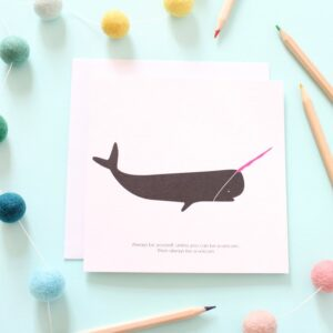 unicorn whale card