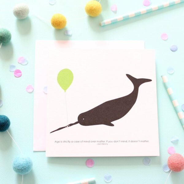 funny age whale card