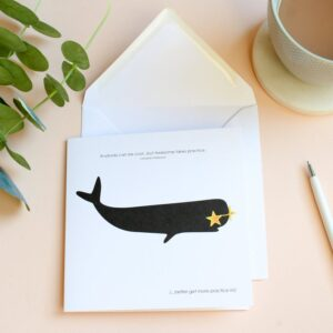 anybody can be cool whale card