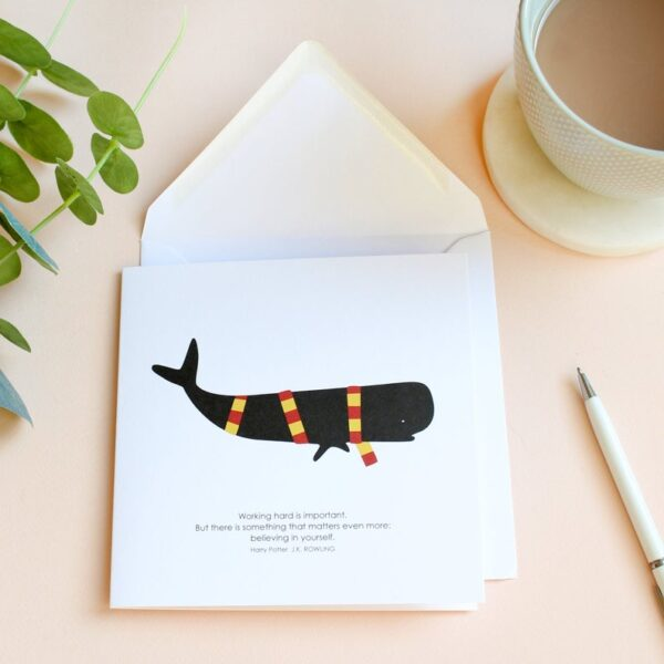 believe in yourself whale card