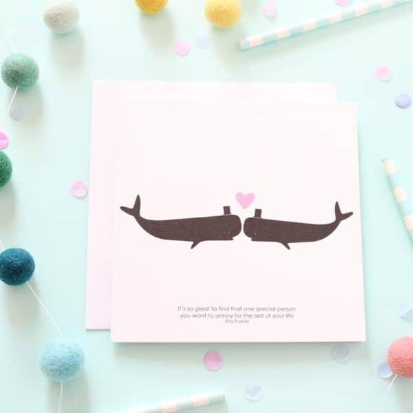 mr & mr whale card