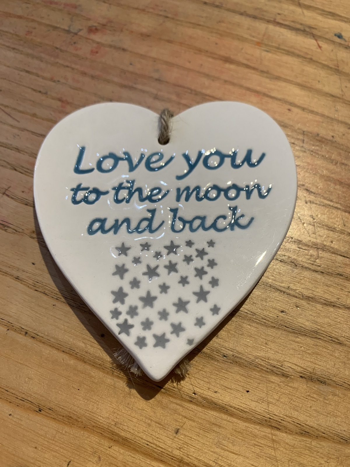 love you moon by braodlands pottery